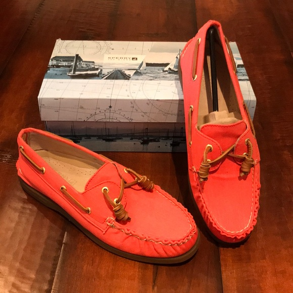 Sperry For J Crew Womens Orange Shoes